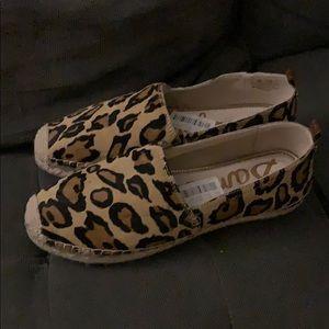Sam Edelman leopard calf hair Espadrilles 9 NWT